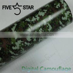 5 Star New Arrival PVC Type Car Wrapping 1.52*30m/roll Camouflage Vinyl
