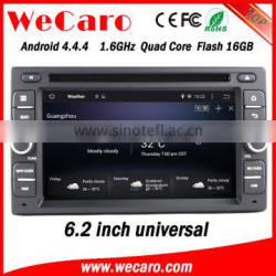 "Wecaro 6.2"" WC-2U6008 Android 4.4.4 car stereo touch screen car dvd player with reversing camera WIFI 3G 16GB Flash"