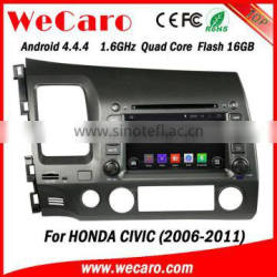 Wecaro android 4.4.4 car radio high quality for honda civic navigation system BT gps 3g TV 2006 - 2011