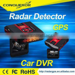 HD Full 1080P Camera Car Dvr with Radar Detector and GPS New 3 in 1 car anti speed laser radar products