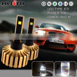 Power 30W and start current electricity 2.2A 10-30V dc with customize packege of led headlight for vehicle