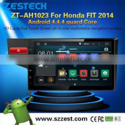 android tablet double din car dvd player for Honda FIT 2014 with digital WIFI TV