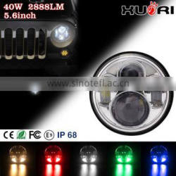 Economic LED Headlight for j eep auto headlight 5.7 inch led headlight for j eep car accessories car headlight