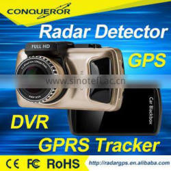 3 inch TOUCH SCREEN Newest car dvr with gps tracker AND radar detector