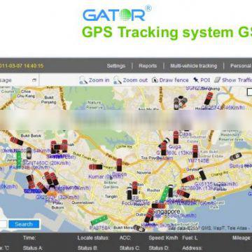 GPS Tracking platform Fleet management system real time tracking the vehicles remotely