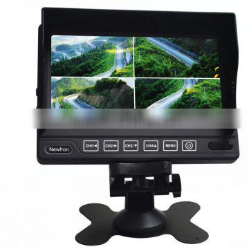 High quality 7 inch TFT LCD 4 quad cctv monitor