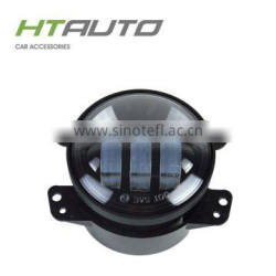 HTAUTO Round High Low Beam 4 inch Automobiles & Motorcycles Fog Light for Harley with LED Angel Eye