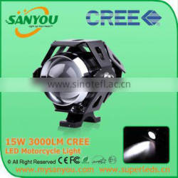 Super Bright U5 With Lens 6000K 12V LED U5 Motorcycle LED Headlight