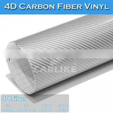 Air Free 4D Carbon Fiber Auto Body Wrapping Sticker