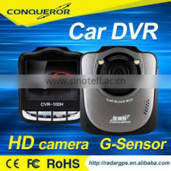 Dash camera car DVR with 2.4 inch LCD 120 degree lens with G sensor WDR