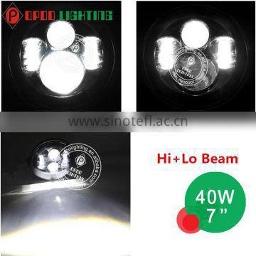 New h.arley led headlight, 7inch 40W round h.arley led headlight