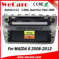 """Wecaro Android 4.4.4 car dvd 8"""" in dash for mazda 6 car audio car stereo mirror link 2008-2012"""