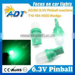 t10 non ghosting frosted clear lens led 6.3v frost lens #44 #555 pinball led