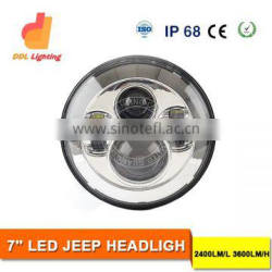 Wholesale angle eyes halo motorcycle led headlight 7 inch jeep led light for truck