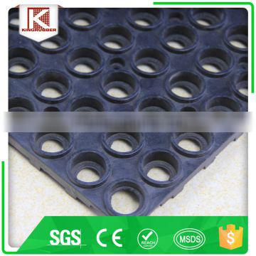 Oil resistant commercial kitchen with connector ESD softextile natural rubber mat