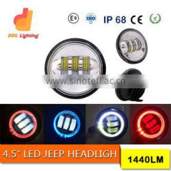 color changing LED Headlight for jeep wrangler headlight led for offroad with halo