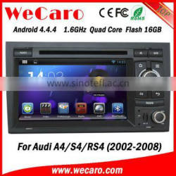 HD 1.6GHZ android 4.4 car dvd player for audi a4 2002-2008 dashboard GPS navigator TV Radio tuner CD Player