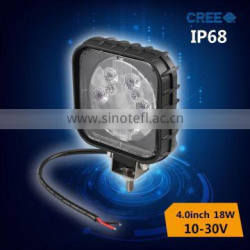 18w led work light for motorcycle,car driving light with flood light