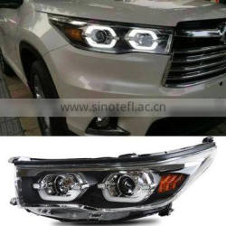 Auto Headlight LED Head lamp For Toyota Highlander 2014 2015 Headlight With Turn signal