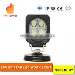wholesale 3inch 12w led working light 12v 24v led ligh bulbs for jeep offroad truck tractor