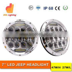 ddl LED Headlight for jeep wrangler led lights 7 inch jeep led headlight