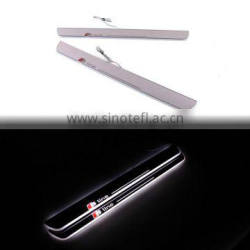 Car LED Welcome Flash Logo Door Sill Moving Scuff Plate Light For Audi A7 S7 RS7 Quality Choice