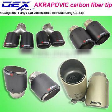 New style high quality factory price auto accessories Akrapovic carbon fiber exhaust pipe akrapovic tip
