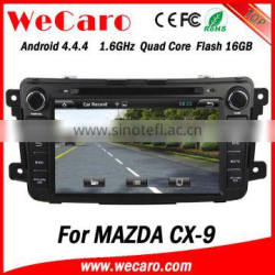 """Wecaro Android 4.4.4 navigation system 8"""" touch screen for mazda cx-9 touch screen dvd player WIFI 3G mirror link"""