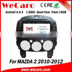 """Wecaro Android 4.4.4 car multimedia system 8"""" double din for mazda 2 car dvd gps android 16GB Flash 2010-2012"""
