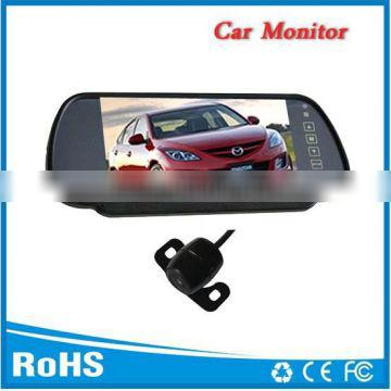 """7""""car tft lcd monitor with reverse camera and two way video input"""