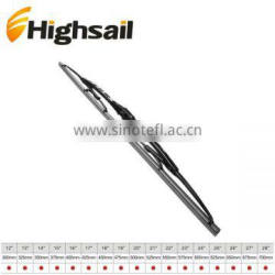 Automobile mental and plastic frame wiper blade