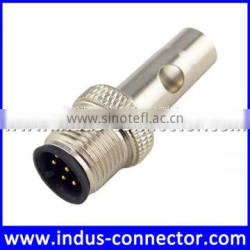 Hot sale m12 5 poles b code watertight shielded female circular coupler connector