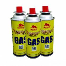 227g Round Shape Portable Disposable Straight Wall Aerosol Tinplate Can camping gas butane canister refill