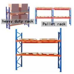 Fixed stacking cargo storage in steel beam rack/pallet shelf/selective shelving