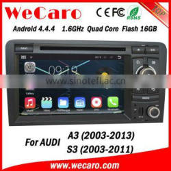 Wecaro Android 4.4.4 car dvd player touch screen car radio for audi a3 WIFI 3G bluetooth 2003-2013