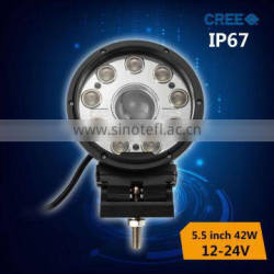 wholesale combo LED work light 42w driving on motorcycle