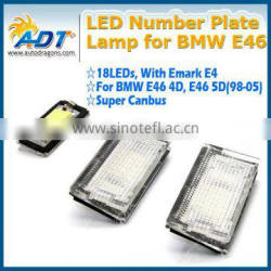 New design Emark E46 4D Led License Plate Light Lamp for BMW E46 4D 5D