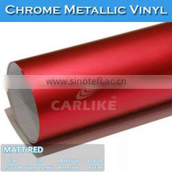 GUANG DONG Sino Matt Chrome Ice Film Matte Red Color Car Wrapping Vinyl Sticker