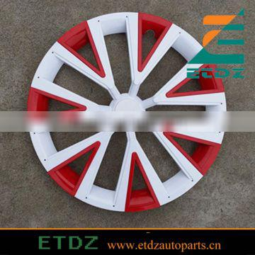 14inch WHITE/RED Color Car Wheel Cover Twin Color Car Wheel Caps