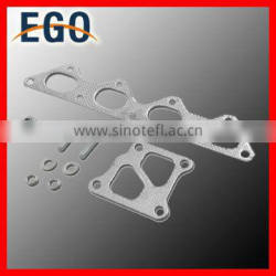 Whole FLANGE STAINLESS EXHAUST TURBO MANIFOLD FOR 01-07 LANCER EVO 7/8/9 4G63T