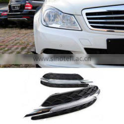 1Pair Car LED DRL Daytime Running Light Fog Lamp ABS For Mercedes-Benz W204 C-Class C180 C200 C260 C300 2010-2013