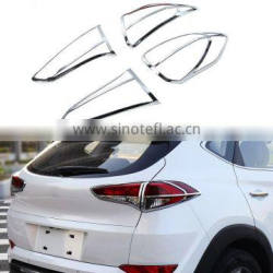 4Pcs/Set ABS Chrome Car Taillight Rear Lamp Cover Decorative Molding Frame Trim For Hyundai Tucson 3th 2015 2016 Quality Choice