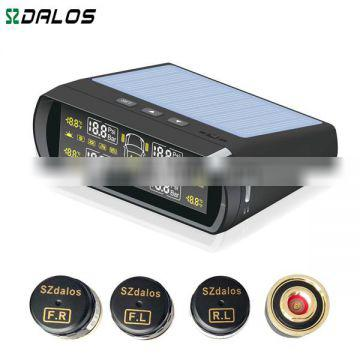 Solar power car diagnostic tool tyre pressure monitoring auto bluetooth sensor 433.92 mhz tpms universal