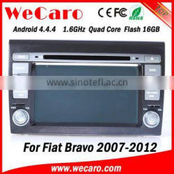 """Wecaro Android 4.4.4 car dvd player 7"""" touch screen for fiat bravo car gps navigation mirror link bluetooth 2007-2012"""