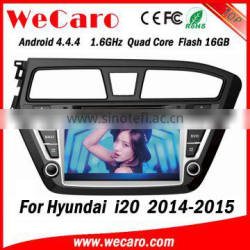 Wecaro WC-HI8081L android 4.4.4 1024 x 600 HD touch screen car dvd player for hyundai i20 radio gps navigation system 2014 2015 Quality Choice