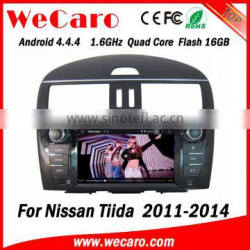 Wecaro WC-NT8078 Android 4.4.4 WIFI 3G car radio navigation system for nissan tiida car dvd gps 2011 2012 2013 2014