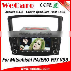 """Wecaro 7"""" Android 4.4.4 car dvd player touch screen for mitsubishi pajero car dvd gps navigation system WIFI 3G 2006 - 2011"""