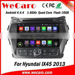 "Wecaro Android 4.4.4 in dash 8"" touch screen car gps navigation system for Hyundai IX45 car dvd player 2013"