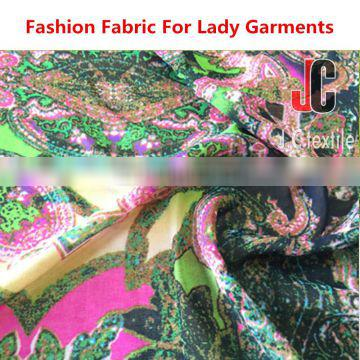High quality 100% polyester printed tulle chiffon fabric macrame embroidered tulle