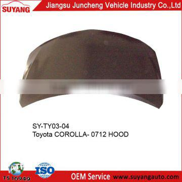 Bonnet for Toyota Corolla 07-12 Auto Spare Parts For Japanese Cars